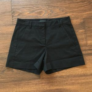 Theory black high waisted shorts